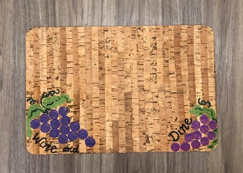 Be Grape-Ful Painted Cork Placemats (York) Copy